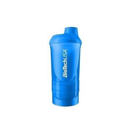Шейкер BioTech - Wave Magic Magenta (600+200+150 мл) blue/голубой