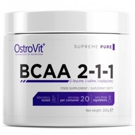 BCAA OstroVit - BCAA 2:1:1 (500 гр) [lemon/лимон]