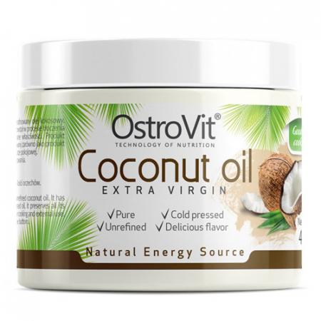 Кокосовое масло OstroVit - Coconut Oil Extra Virgin (400 грамм)