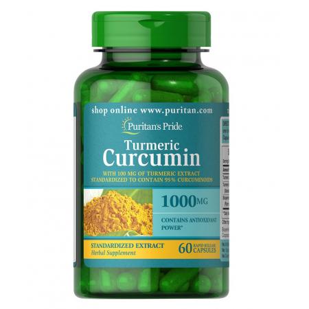 Куркумин Puritan's Pride - Turmeric Curcumin 1000 мг (60 капсул)