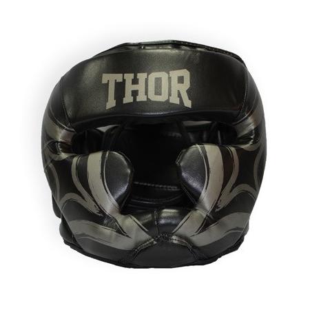 Шлем боксерский Thor - 727 (PU) черный