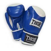 Перчатки боксерские Thor - Competition 500/02 (кожа) сине-белые