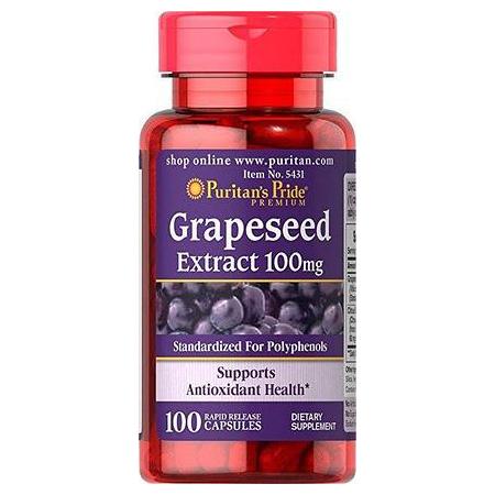 Антиоксидант Puritan's Pride - Grapeseed Extract 100 мг (100 капсул)