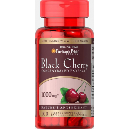 Антиоксидант Puritan's Pride - Black Cherry 1000 мг (100 капсул)