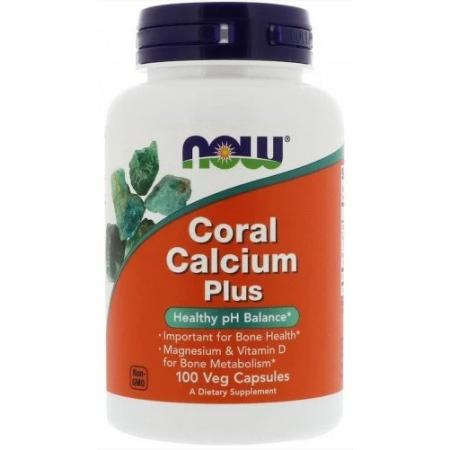 Витамины Now Foods - Coral Calcium Plus (100 капсул)