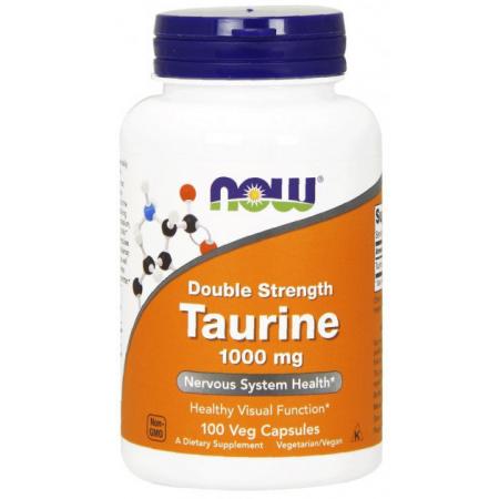 Таурин Now Foods - Taurine 1000 мг Double Strength (100 капсул)