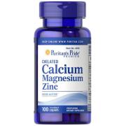Минеральный комплекс Puritan's Pride - Calcium Magnesium Zinc (100 таблеток)