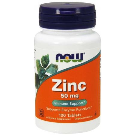Zinc Now Foods 50 mg 100 таб.
