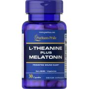 Релаксант Puritan's Pride - L-Theanine 100 мг PLUS Melatonin 3 мг (30 капсул)