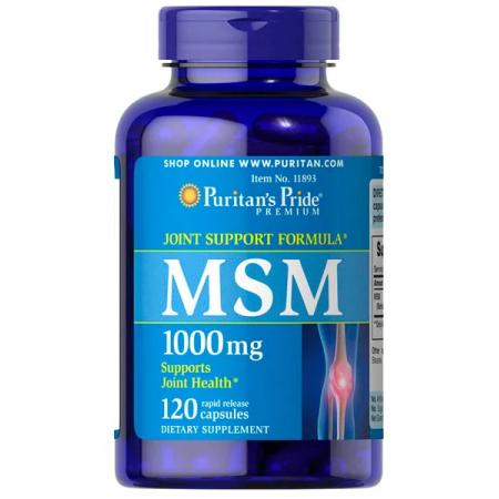 Для суставов и связок Puritan's Pride - MSM 1000 мг (120 капсул)