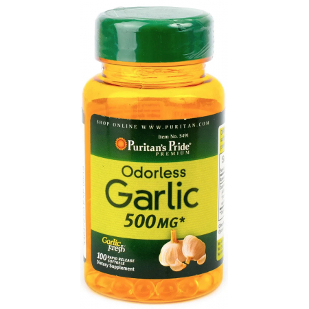 Антиоксидант Puritan's Pride - Garlic Oil 500 мг (100 капсул)