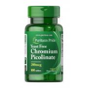 Блокатор жиров Puritan's Pride - Chromium Picolinate 200 мкг (100 таблеток)