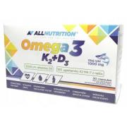 Омега AllNutrition - Omega 3 D3 + K2 (30 капсул)
