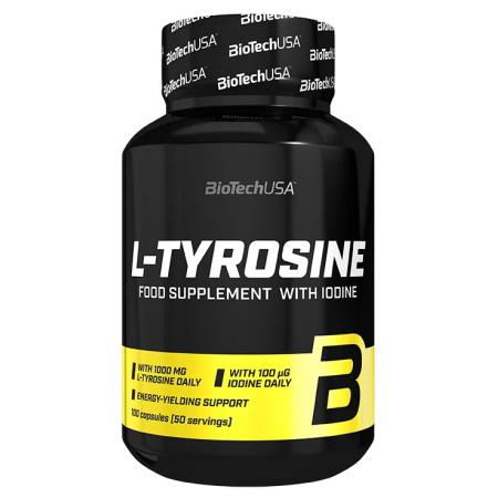 Тирозин BioTech - L-Tyrosine 1000 мг (100 капсул)