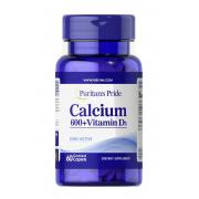 Для крепости костей Puritan's Pride - Calcium 600 + Vitamin D3 (60 таблеток)