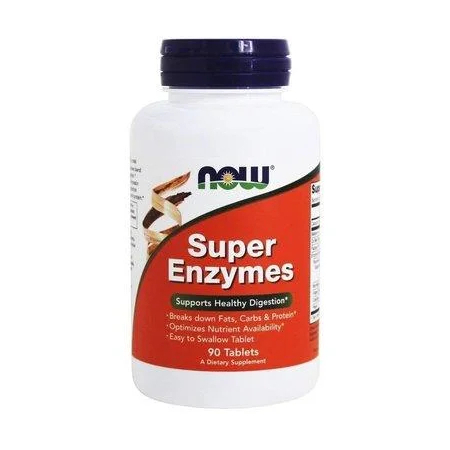 Комплекс энзимов Now Foods - Super Enzymes (90 капсул)
