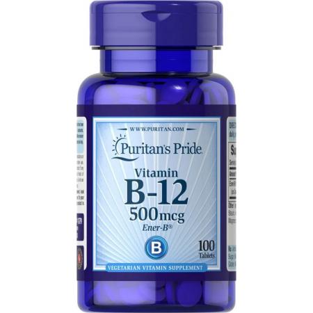 Витамины Puritan's Pride - Vitamin B-12 500 мг (100 таблеток)