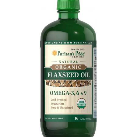 Для сердечно-сосудистой системы Puritan's Pride - Flaxseed & Omega 3, 6, & 9 (473 мл)