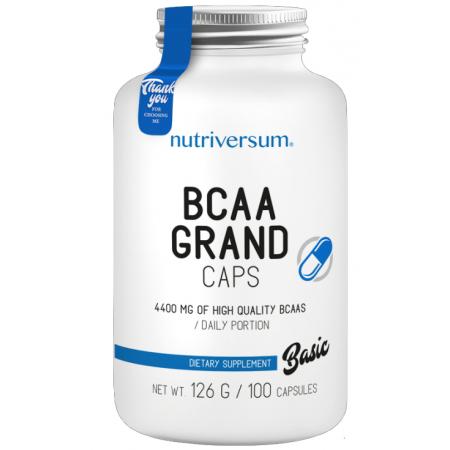Аминокислоты Nutriversum - BCAA Grand Caps (100 капсул)