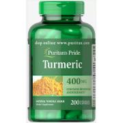 Куркума Puritan's Pride - Turmeric 400 мг (200 капсул)