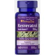 Антиоксидант Puritan's Pride - Resveratrol 50 мг (60 капсул)