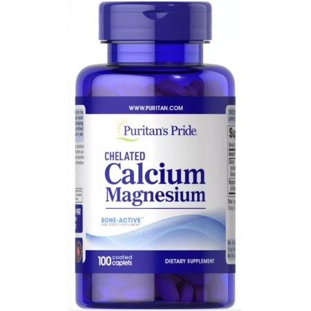 Комплекс минералов Puritan's Pride - Chelated Calcium Magnesium (100 капсул)