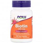 Витамины Now Foods - Biotin 1000 мкг (100 капсул)