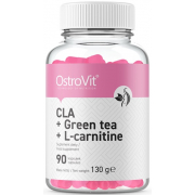 Жиросжигатель OstroVit - CLA + Green Tea + L-Carnitine (90 капсул)