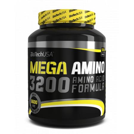 Аминокислоты BioTech - Mega Amino 3200 (500 таблеток)