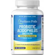 Пробиотик Puritan's Pride - Probiotic Acidophilus Daily Blend (90 капсул)