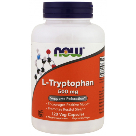 Триптофан Now Foods - L-Tryptophan 500 мг (60 капсул)