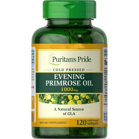 Гамма-линоленовая кислота Puritan's Pride - Evening Primrose Oil 1000 мг (120 капcул)