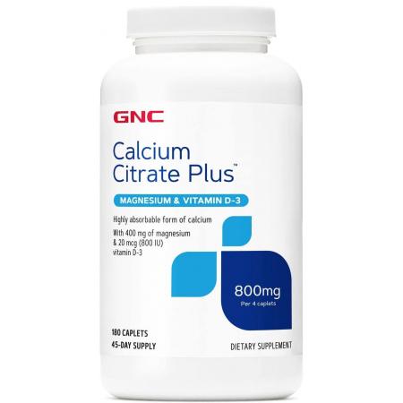 Цитрат кальция GNC - Calcium Citrate Plus (180 капсул)