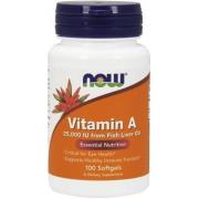 Витамины Now Foods - Vitamin A 25000 IU (100 капсул)