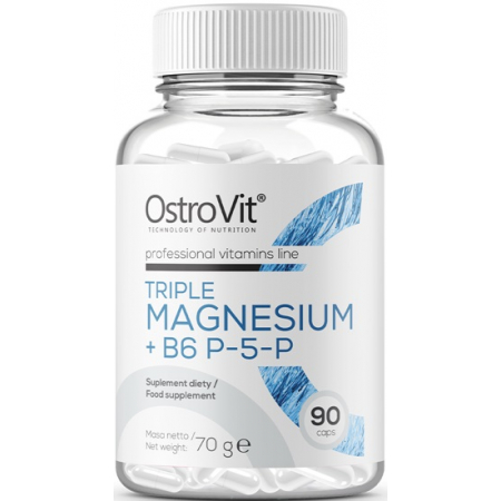 Магний OstroVit - Triple Magnesium + B6 P-5-P (90 капсул)