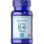 Витамины Puritan's Pride - Vitamin B-6 50 мг (100 таблеток)