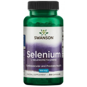Здоровье сердца, мозга и иммунитета Swanson - Selenium 100 мг (200 капсул)