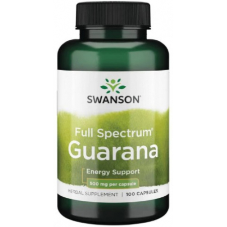 Снятие чувства усталости Swanson - Full Spectrum Guarana 500 мг (100 капсул)