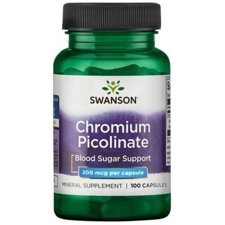 Блокатор жиров Swanson - Chromium Picolinate 200 мкг
