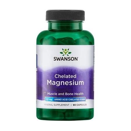Хелат магния Swanson - Chelated Magnesium 133 мг (90 капсул)