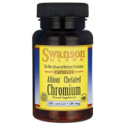 Хелат аминокислоты хрома Swanson - Chelated Chromium 200 мкг (180 капсул)