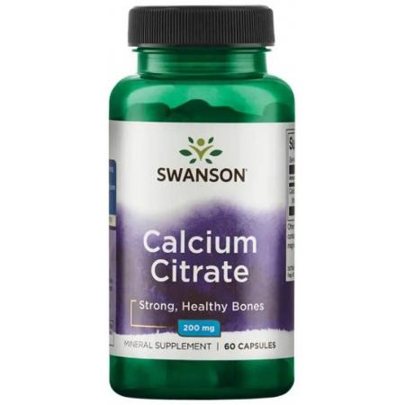 Цитрат кальция Swanson - Calcium Citrate 200 мг (60 капсул)