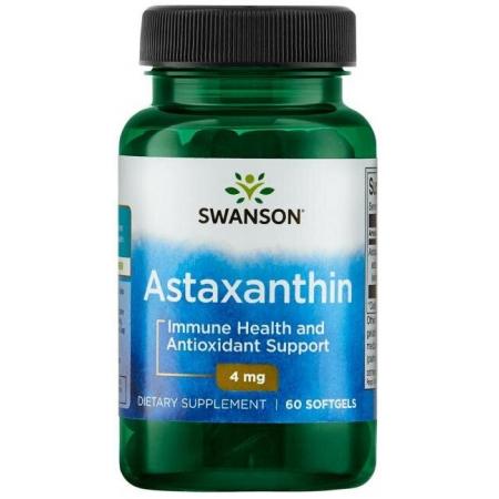 Здоровье иммунной системы Swanson - Astaxanthin 4 мг (60 капсул)