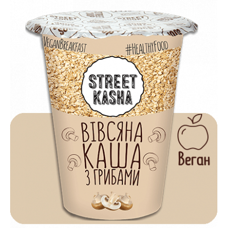 Овсяная каша Street Kasha - С грибами (50 грамм)