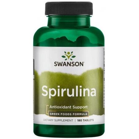 Спирулина Swanson - Spirulina 500 мг (180 таблеток)