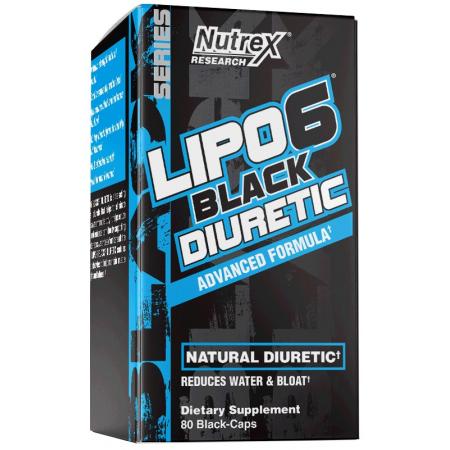 Диуретик Nutrex Research - Lipo-6 Black Diuretic (80 капсул)