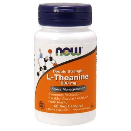 L-Theanine 200 мг 60 капсул Now Foods (L-Теанин)
